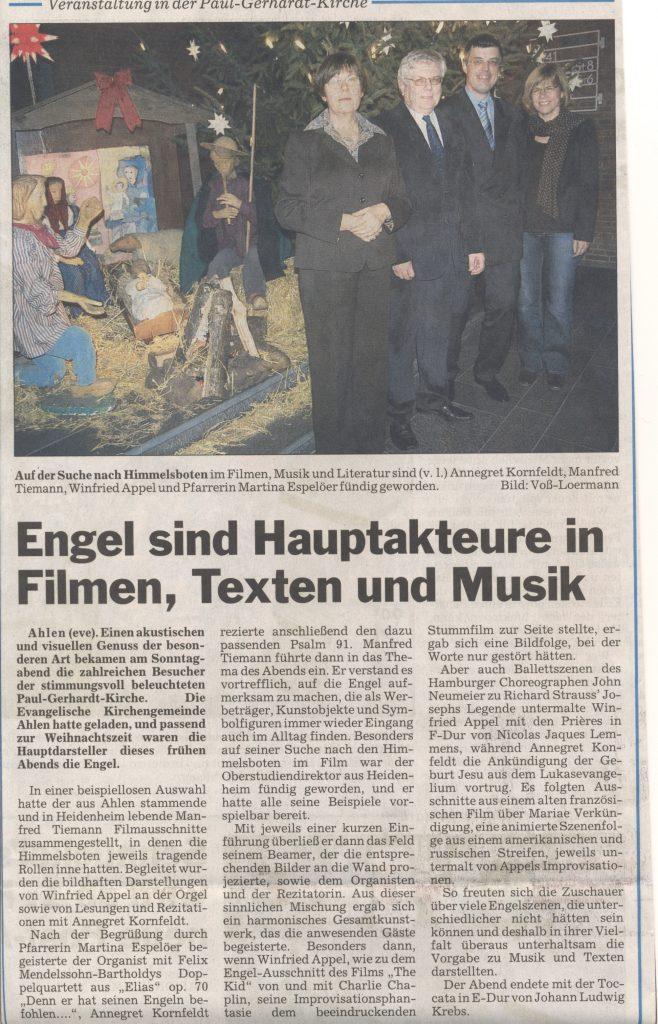 Zeitungsbericht Ahlen